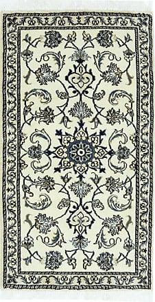 Nain Trading 133x72 Nain Rug Runner Dark Grey/Dark Brown (Iran/Persia, Wool/Silk, Hand-Knotted)