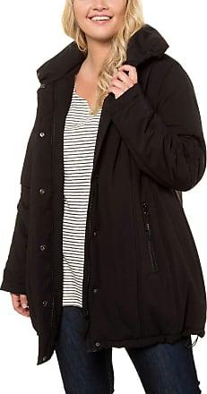 Ulla Popken Womens Onlgaia L/s Plain Pullover Bf KNT Coat, Black (Schwarz 10), 28 (Size: 54+)