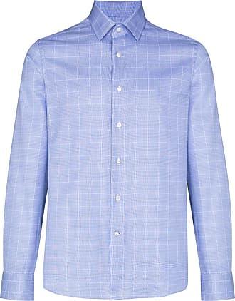 Canali Checked button-down shirt - Azul
