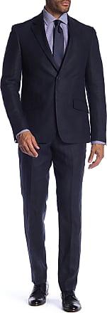 Nordstrom Rack Two Button Notch Lapel Linen Trim Fit Suit