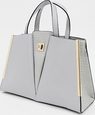 Dune London dopple v detail structured tote bag-Grey
