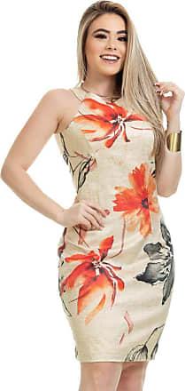Clara Arruda Vestido Clara Arruda Tubinho Estruturado Estampado 50605-36 - Leonardo Da Vince