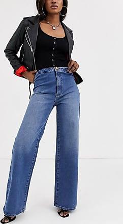 Object high waist wide leg jeans in blue