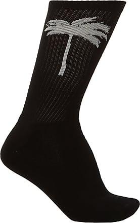 Palm Angels Patterned Socks Mens Black