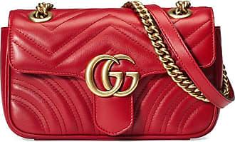 Gucci Bolsa GG Marmont matelassê mini - Vermelho