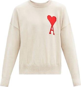 Ami Ami - Ami De Coeur Wool-blend Sweater - Mens - Cream