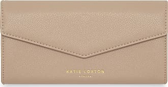 Katie Loxton Esme Womens Vegan Leather Envelope Clutch Purse Taupe