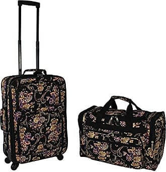 World Traveler 2-Piece Carry-on Expandable Spinner Luggage Set-Classic Floral
