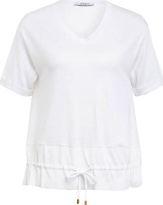 PESERICO T-Shirt aus Leinen - WEISS