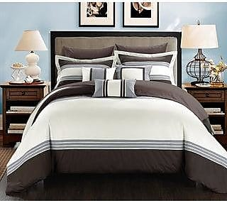 Copper Grove Minesing Red// White// Black 10-piece Bed in a Bag with Sheet Set