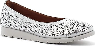 Generico Blender Perforated Leather Ballet Flats Silver Silver Size: 8 UK