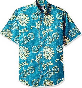 258bf6b8e Reyn Spooner Mens Nanea Spooner Kloth Tailored Fit Hawaiian Shirt,  Nanea-Turquoise, M