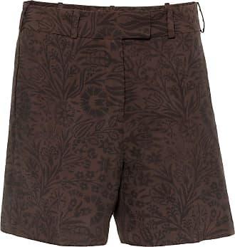 The Crocale Salma Silk Shorts Chocolate
