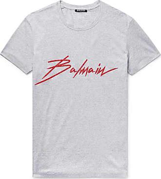 e987c958 Delivery: free. Balmain Logo-print Cotton-jersey T-shirt - Gray
