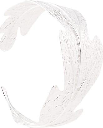 Karen Walker Bracciale rigido a foglia - Color argento