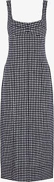 Three Graces London Tomasina Dress in Navy Gingham