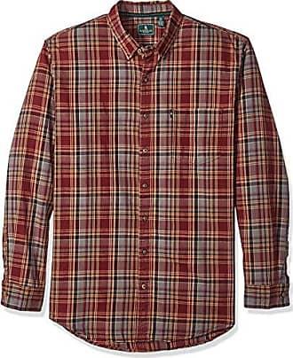 G.H. Bass & Co. Mens Big and Tall Madawaska Trail Long Sleeve Shirt, Tawny Port, Large