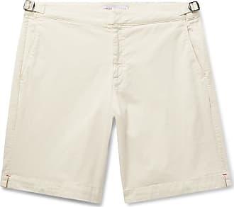 Orlebar Brown Dane Garment-dyed Slim-fit Stretch-cotton Twill Shorts - Cream
