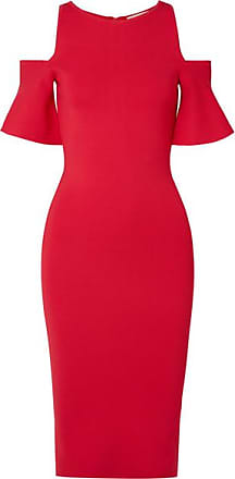 Michael Kors Kleid Aus Stretch-strick Mit Cut-outs Im Schulterbereich - Rot