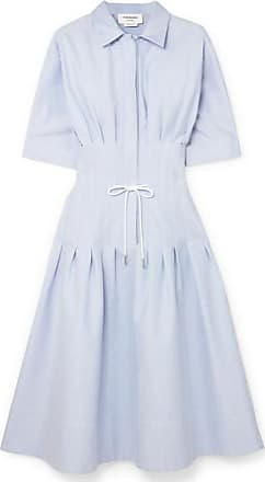 Thom Browne Pintucked Cotton Shirt Dress - Blue
