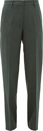 Gabriela Hearst Francisco Wool Straight-leg Trousers - Womens - Dark Green