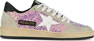 Golden Goose Ball Star Sneakers - Lilac glitter