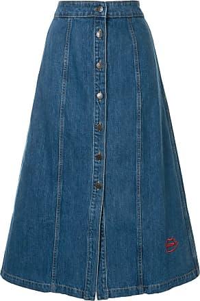 être cécile Celeste denim midi skirt - Blue