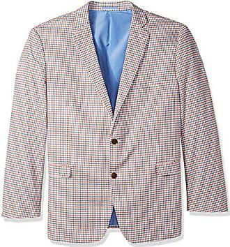 U.S.Polo Association Mens Big and Tall Seersucker Sport Coat, red/Grey Check, 50 Regular