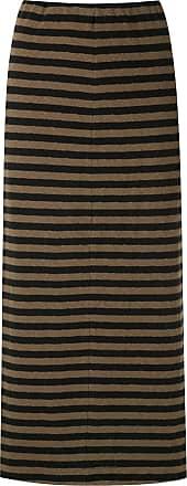 Osklen striped pencil skirt - Green