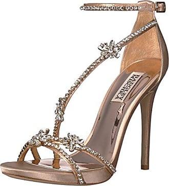 Badgley Mischka Womens Hodge Heeled Sandal, Latte, 11 M US
