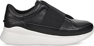 UGG Womens Libu Leather Trainer in Black, Size 5.5