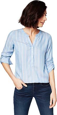 Tom Tailor Womens Dobby Struktur Blouse, 22803-Blue Stripe Vertical, 20
