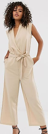 Y.A.S. Tall wrap sleeveless jumpsuit-Cream