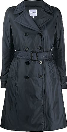 Aspesi Trench coat com cinto - Azul