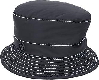Maison Michel Cappello bucket con cuciture a contrasto - Di colore nero