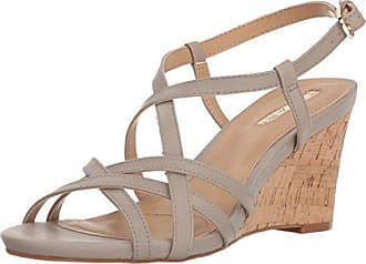 Elie Tahari Womens TA-Future Wedge Sandal, Dove, 7 M US