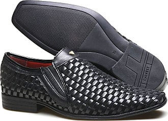Calvest Sapato Social Masculino Calvest em Couro de Carneiro Saturno - ZM3500C253 Preto-43