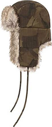 Warme Trapperm/ütze aus echtem Leder Stetson Pigskin Patchwork Fliegerm/ütze Herren Fellm/ütze mit Ohrenklappen f/ür den Herbst//Winter W/ärmendes Futter aus 100/% Baumwolle