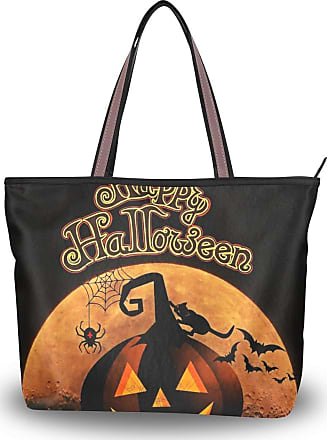 Lorona Women Happy Halloween Pumpkin Canvas Shoulder Hand Bag Large Capacity Tote Bag