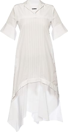 Jil Sander Asymmetrical Dress With Collar Womens White