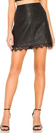BB Dakota JACK by BB Dakota Waiting For Tonight Faux Leather Skirt in Black