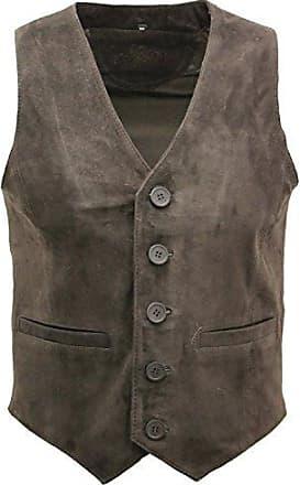 Minetom/® Damen Pelz Fellweste Weste Frauen Lederweste Fellweste Faux Fur Vest Gilet Waistcoat Winter Braun