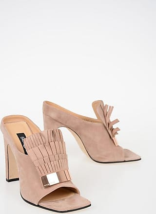 Sergio Rossi 11cm Suede Leather Sandals Größe 37,5
