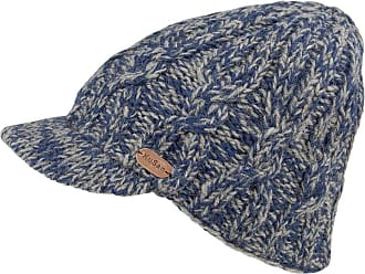 KuSan Cable Knit Peaked Beanie Hat - Blue 1-Size