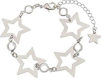 Kitbox Pulseira Estrelas com Zircônias em Ouro Branco
