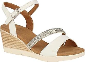 Lotus White Lilou Wedge Sandals 5 UK