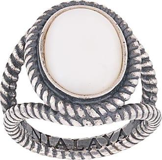 Nialaya cabochon ring - SILVER