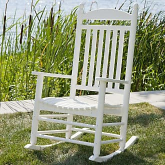 POLYWOOD Outdoor POLYWOOD Jefferson Recycled Plastic Rocking Chair Slate Gray - J147GY