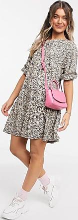 Asos Mini-Hängerkleid mit Stufensaum und Ditsy-Muster-Mehrfarbig