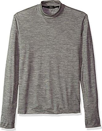 0948e8c093fb Theory Mens Long Sleeve Sweater with Mock Neck and Thumbholes, Concrete  Heather XL